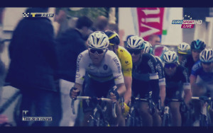 No pressure Cav...just the World Champ and Yellow Jersey leading you out!