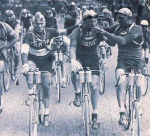 smoking Tour de France riders